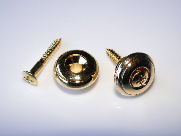 Roldana grande dourada para correia - Kit com 2 unidades  - Luthieria Brasil