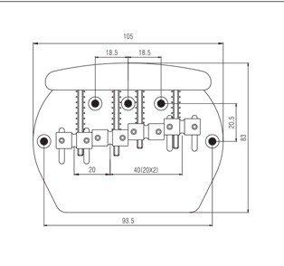 Ponte Dourada para contrabaixo Music Man 04 cordas - Sung il (BB022)  - Luthieria Brasil