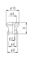 Roldana pequena cosmo black para correia de cavaquinho - Kit com 2 unidades  - Luthieria Brasil