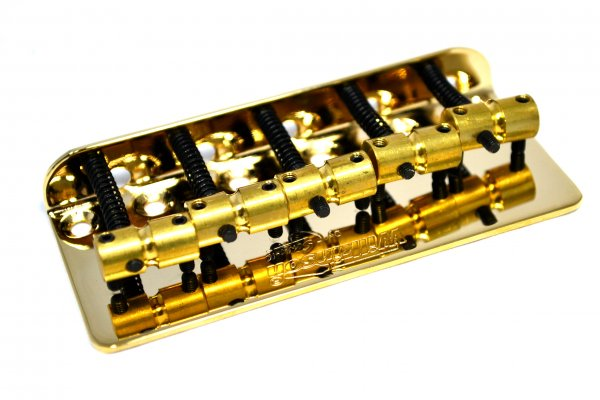 Ponte Dourada para contrabaixo 05 cordas - 18mm - Wilkinson by Sung il (WBBC5)  - Luthieria Brasil