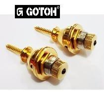 Strap Lock dourado para guitarra/baixo - Kit com 2 unidades - Gotoh (GOT-EPR-2GD)  - Luthieria Brasil