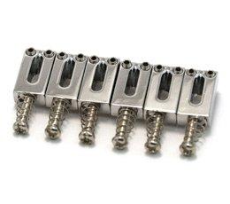 Carrinhos (saddles) cromados para guitarra - Espaçamento 10.5mm - Kit com 6 peças - Sung-il (PS001)  - Luthieria Brasil