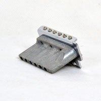 Ponte Cromada Tremolo 2 Pivôs estilo Strato para guitarra (Bloco 40 mm) - Dolphin (2393)  - Luthieria Brasil