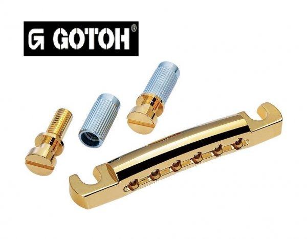Cordal Dourado p/ ponte de guitarra estilo Les Paul - Gotoh (GOT-GE101Z-GD)  - Luthieria Brasil