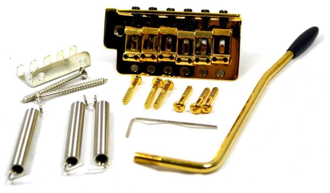 Ponte Dourada Vintage estilo Stratocaster para guitarra (Bloco 40mm) - Sung-il (BS085)  - Luthieria Brasil