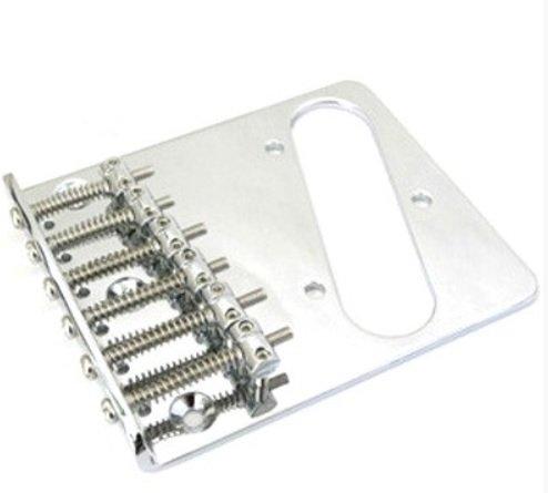 Ponte Cromada estilo Telecaster para guitarra - Sung il (BT002)  - Luthieria Brasil