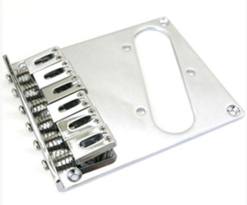 Ponte Cromada estilo Telecaster para guitarra - Sung il (BT001)  - Luthieria Brasil