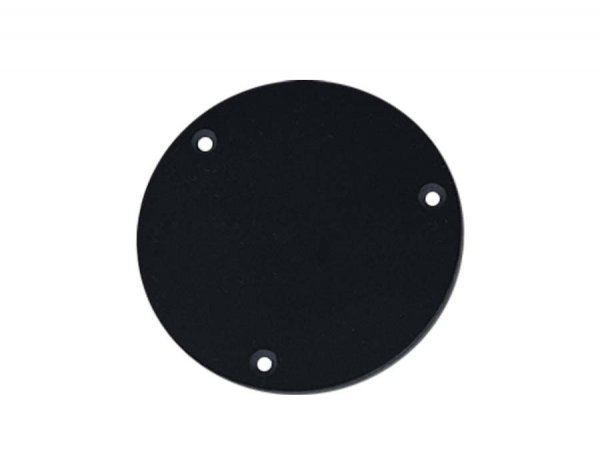 Escudo traseiro para chave Les Paul de plástico preto  - Luthieria Brasil