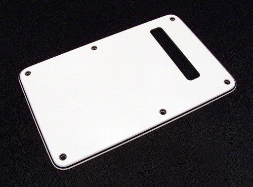 Escudo traseiro (back plate) tipo sanduíche (branco/preto/branco) com 1 furo de plástico p/ guitarra - Spirit  - Luthieria Brasil