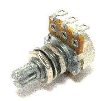 Potenciometro (eixo longo/base pequena) para guitarra/baixo A50k   - Luthieria Brasil