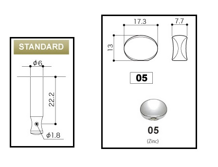 """Tarraxa Cromada Blindada """"em linha"""" botão oval para guitarra - jogo 6 peças - Gotoh (SGM-05L-CR)  - Luthieria Brasil"""