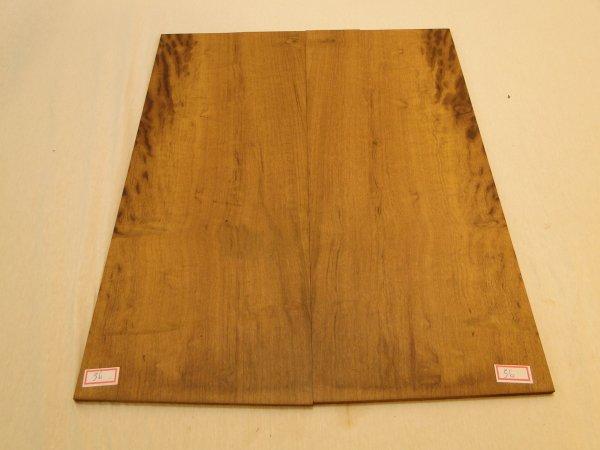 Top (tampo) de Imbuia  para guitarra/baixo nº 56 (50cm x 20cm x 0,7cm (2 peças))  - Luthieria Brasil