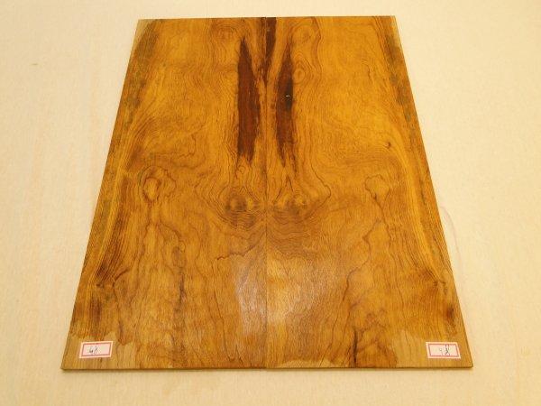 Top (tampo) de Imbuia  para guitarra/baixo nº 48 (50cm x 19cm x 0,7cm (2 peças))  - Luthieria Brasil