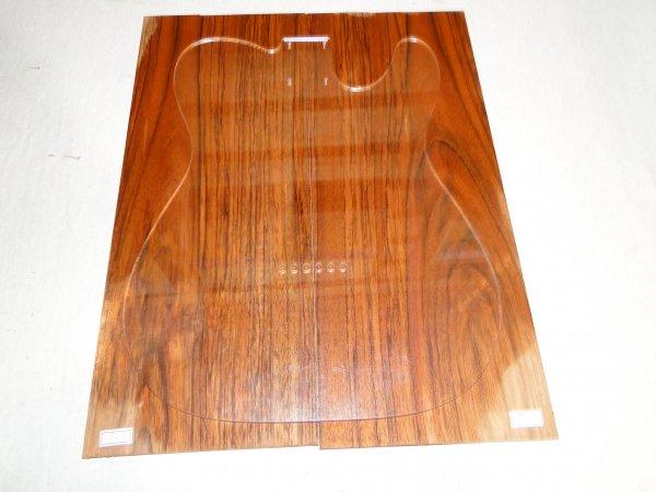 Top (tampo) de Jatobá Figurado para guitarra/baixo nº 14 (46,5cm x 18,5cm x 0,7cm (2 peças))  - Luthieria Brasil