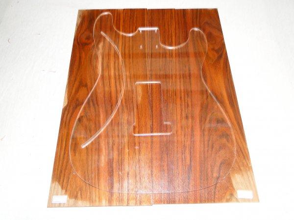 Top (tampo) de Jatobá Figurado para guitarra/baixo nº 13 (50cm x 18,5cm x 0,7cm (2 peças))  - Luthieria Brasil