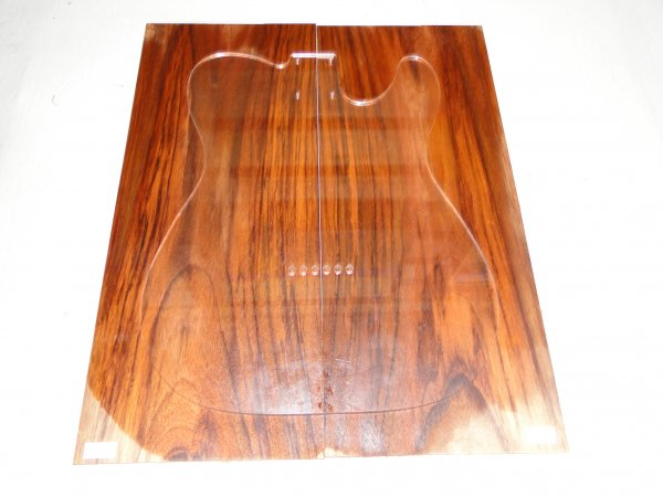 Top (tampo) de Jatobá Figurado para guitarra/baixo nº 10 (49cm x 20cm x 0,7cm (2 peças))  - Luthieria Brasil