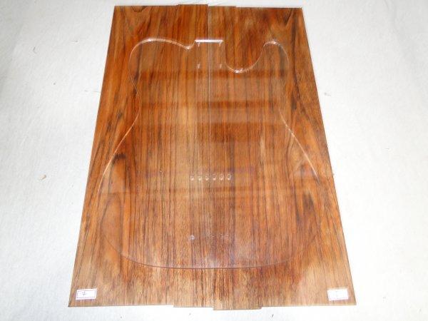 Top (tampo) de Jatobá Figurado para guitarra/baixo nº 07 (54,5cm x 18,5cm x 0,7cm (2 peças))  - Luthieria Brasil