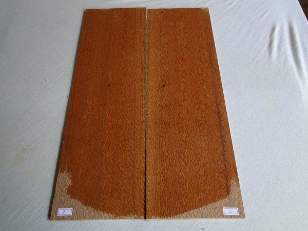 Top (tampo) de Louro faia para guitarra/baixo nº 02 (55cm x 16,6cm x 0,7cm (2 peças))  - Luthieria Brasil