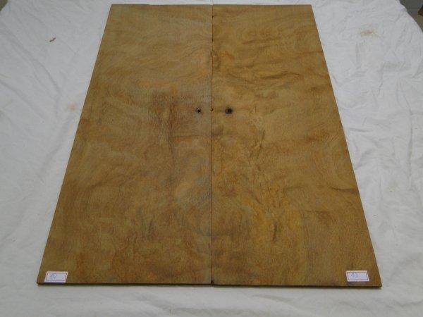 Top (tampo) de Rádica de Itaúba para guitarra/baixo nº 10 (54cm x 19,5cm x 0,7cm (2 peças))  - Luthieria Brasil
