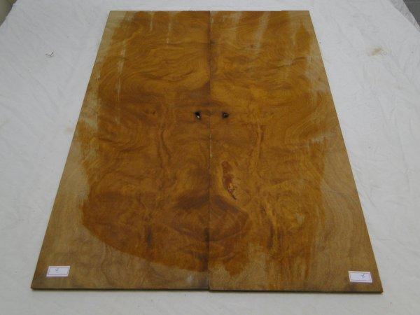 Top (tampo) de Rádica de Itaúba para guitarra/baixo nº 07 (54cm x 20,5cm x 0,7cm (2 peças))  - Luthieria Brasil