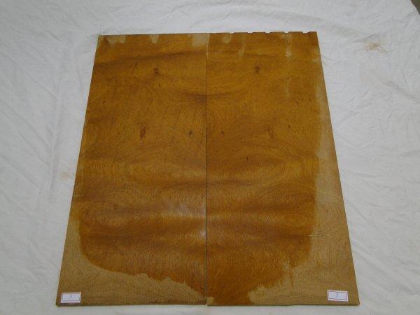 Top (tampo) de Rádica de Itaúba para guitarra/baixo nº 03 (44cm x 19cm x 0,7cm (2 peças))  - Luthieria Brasil