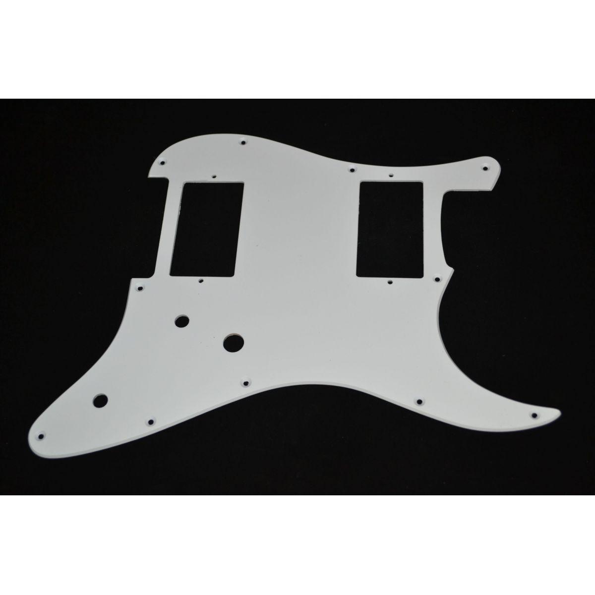 Escudo para Guitarra Stratocaster HH Branco - 1 camada - Spirit (X231)  - Luthieria Brasil