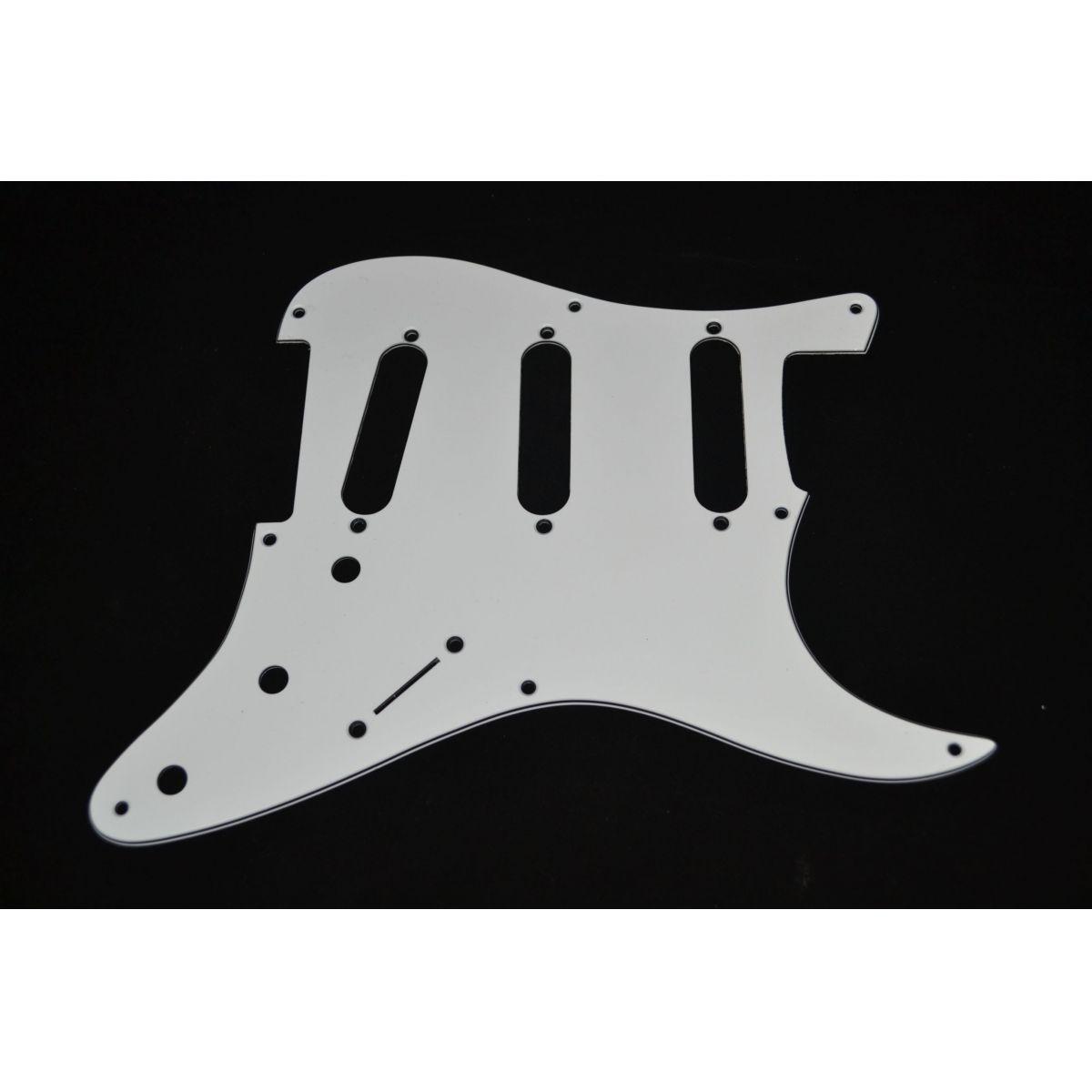 Escudo para Guitarra Stratocaster SSS Branco - 3 camadas (sanduíche) - Spirit (X090)  - Luthieria Brasil