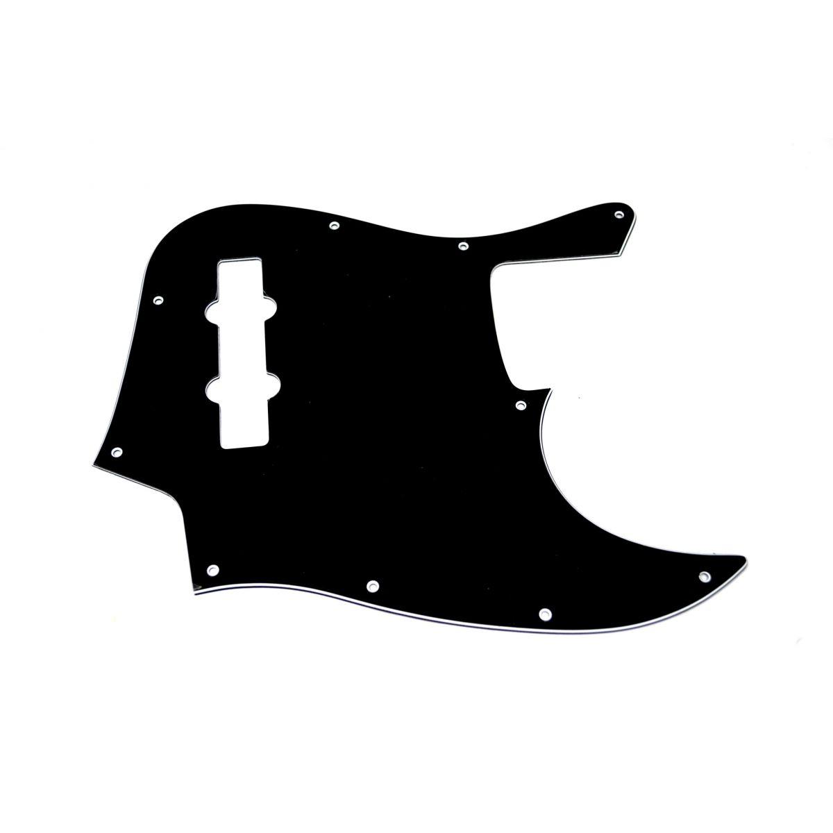 Escudo para Baixo Jazz Bass Preto - 3 camadas (sanduíche) - Spirit (X641)  - Luthieria Brasil
