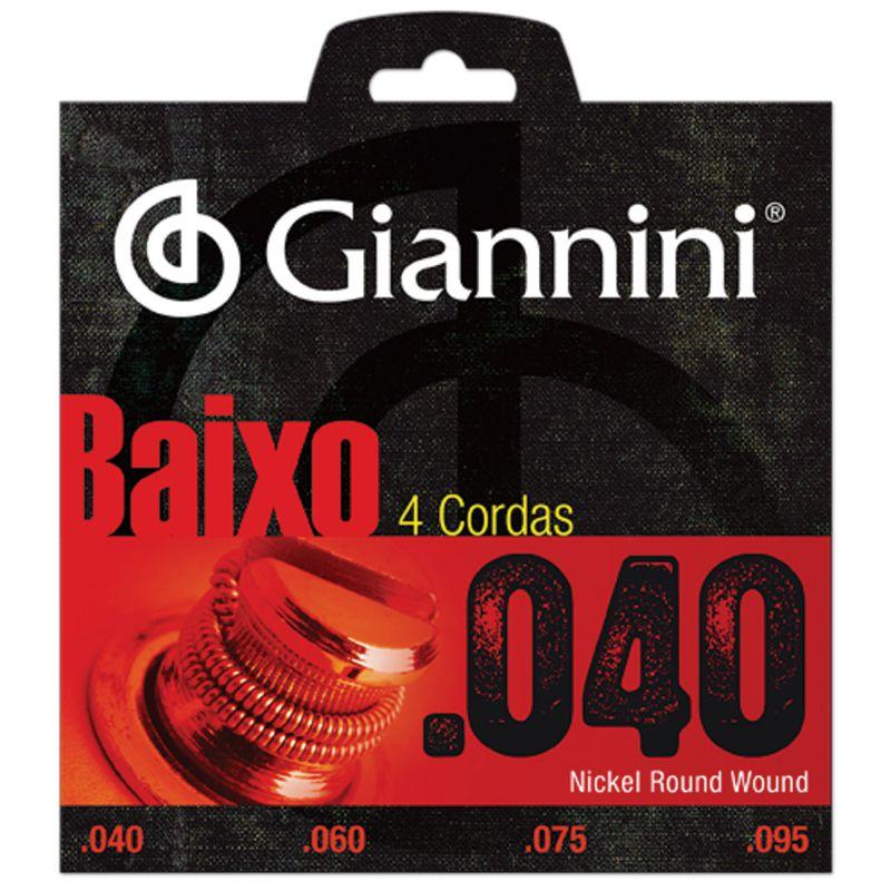 Encordoamento Giannini GEEBRL para baixo 4 cordas (0.40)  - Luthieria Brasil