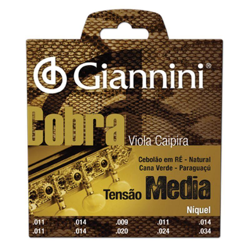 Encordoamento Giannini GESVNM Série Cobra (Níquel) para Viola Caipira (Tensão Média)  - Luthieria Brasil