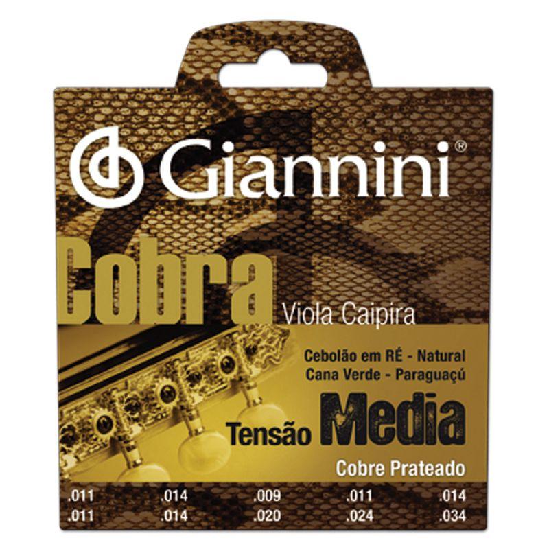 Encordoamento Giannini GESVM Série Cobra (Cobre Prateado) para Viola Caipira (Tensão Média)  - Luthieria Brasil