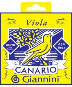 Encordoamento Giannini GESVB (Canário) para Viola (Tensão Média)  - Luthieria Brasil