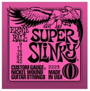 Encordoamento para guitarra Ernie Ball Super Slinky 2223 09-42 (.009)  - Luthieria Brasil