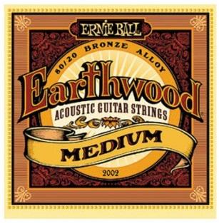 Encordoamento Ernie Ball 2002 Eartwood 80/20 Bronze Medium para Violão Aço 13-56 (.013)  - Luthieria Brasil