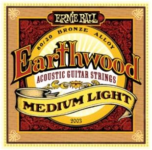 Encordoamento Ernie Ball 2003 Eartwood 80/20 Bronze Medium Light para Violão Aço 12-54 (.012)  - Luthieria Brasil