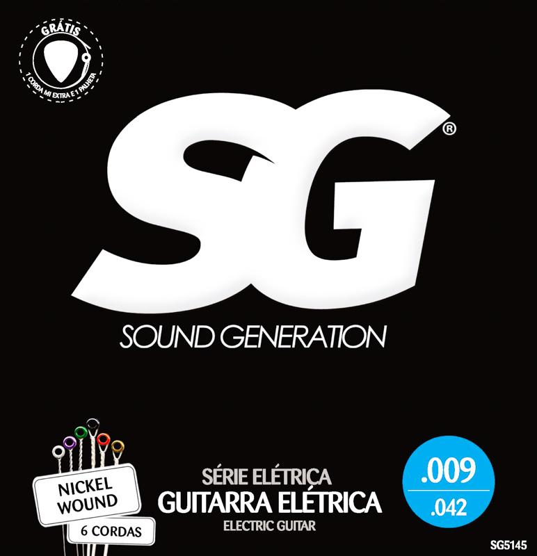 Encordoamento para guitarra SG Níquel 09-42 (.009)  - Luthieria Brasil