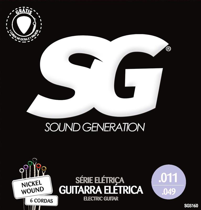 Encordoamento para guitarra SG Níquel 11-49 (.011)  - Luthieria Brasil
