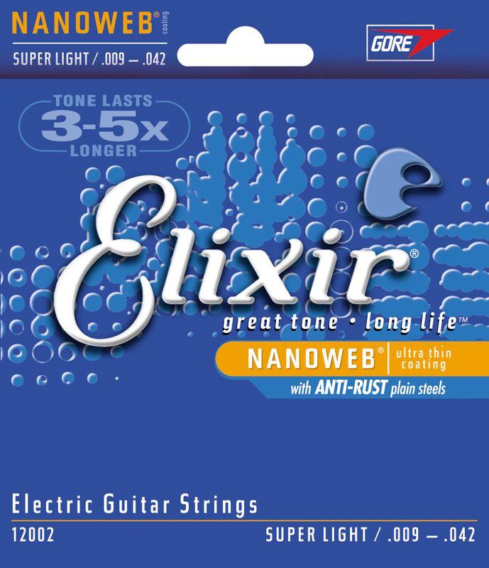 Encordoamento para guitarra Elixir Super Light 09-42 (.009)  - Luthieria Brasil