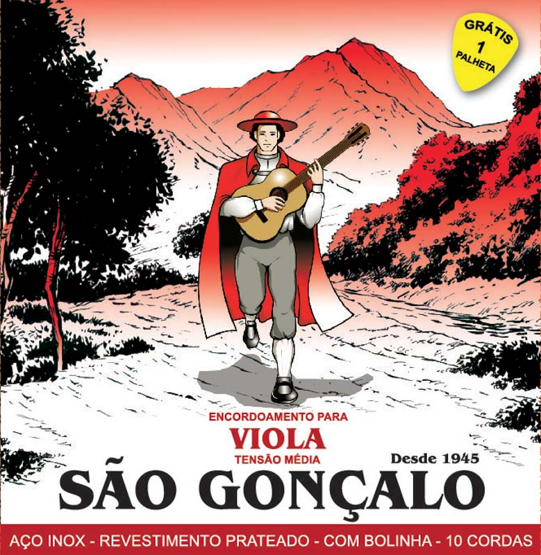 Encordoamento São Gonçalo para Viola (Tensão Média)  - Luthieria Brasil