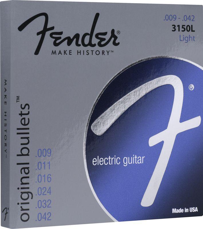 Encordoamento para guitarra Fender 3150L Original Bullets Pure Nickel 09-42 (.009)  - Luthieria Brasil