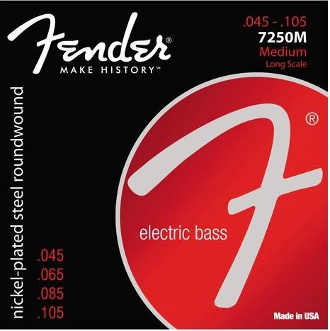 Encordoamento Fender 7250M para baixo 4 cordas (.045)  - Luthieria Brasil