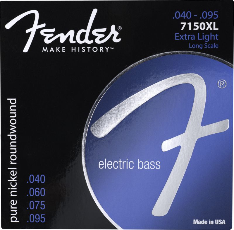 Encordoamento Fender 7150XL para baixo 4 cordas (.040)  - Luthieria Brasil