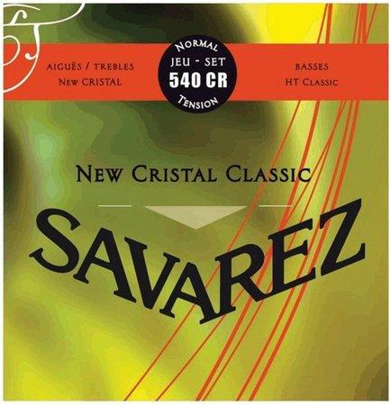 Encordoamento Savarez New Cristal Classic 540CR Tensão Normal para Violão Nylon  - Luthieria Brasil