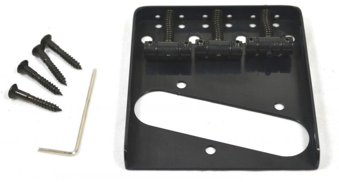 Ponte Preta estilo Telecaster Vintage (3 carrinhos) para Guitarra - Sung-il (BT005)  - Luthieria Brasil
