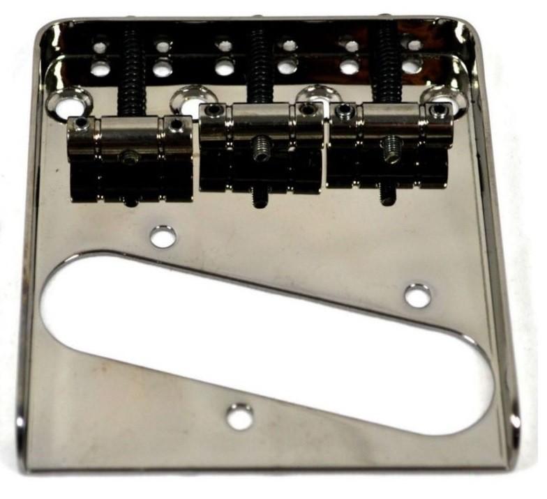 Ponte Cosmo Black estilo Telecaster Vintage (3 carrinhos) para Guitarra - Sung-il (BT005)  - Luthieria Brasil
