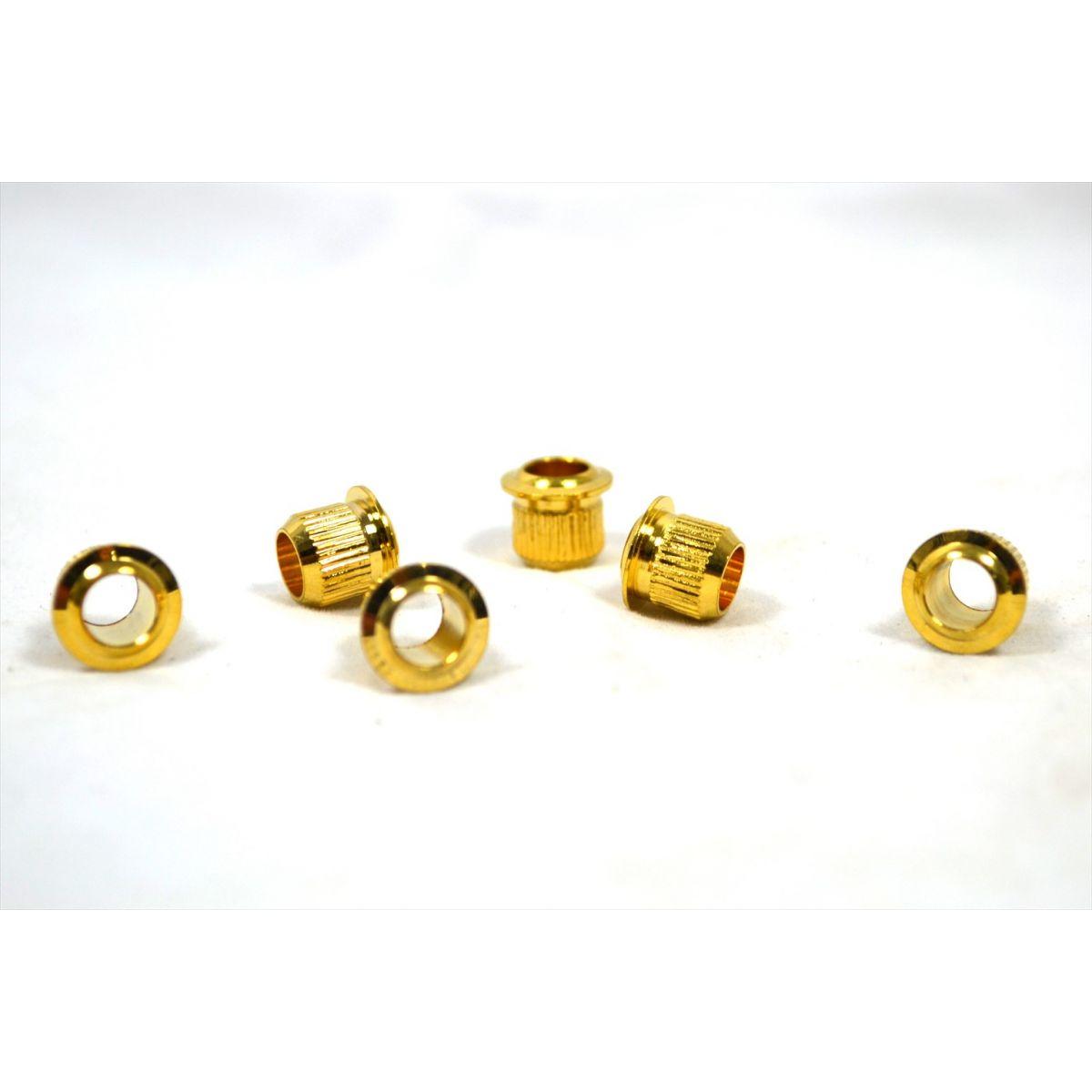 Ilhos dourados para tarraxas de guitarra - Kit com 6 peças (HS022-GD)  - Luthieria Brasil