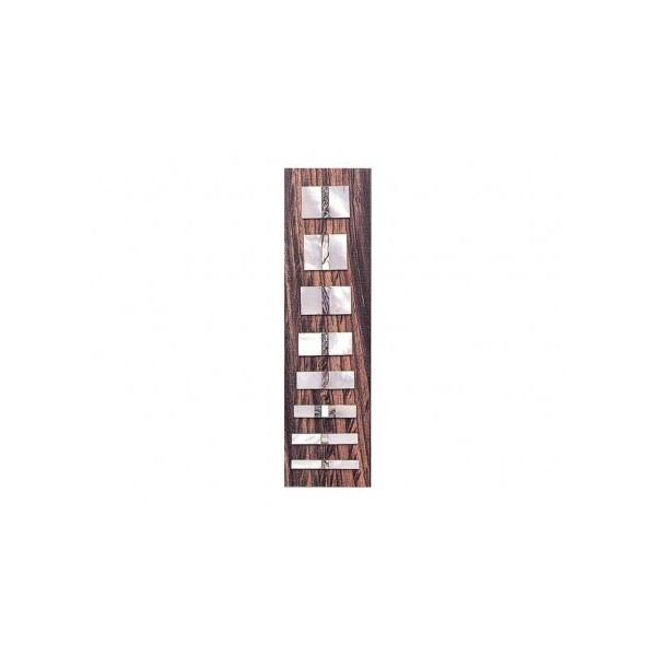 Marcações (dots) retangular para escala - Madrepérola c/ Abalone - Pacote c/ 8 un - Spirit (AP-22)  - Luthieria Brasil