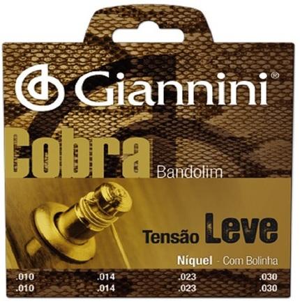 Encordoamento Giannini GESBN Série Cobra (Níquel) Tensão Leve para Bandolim  - Luthieria Brasil