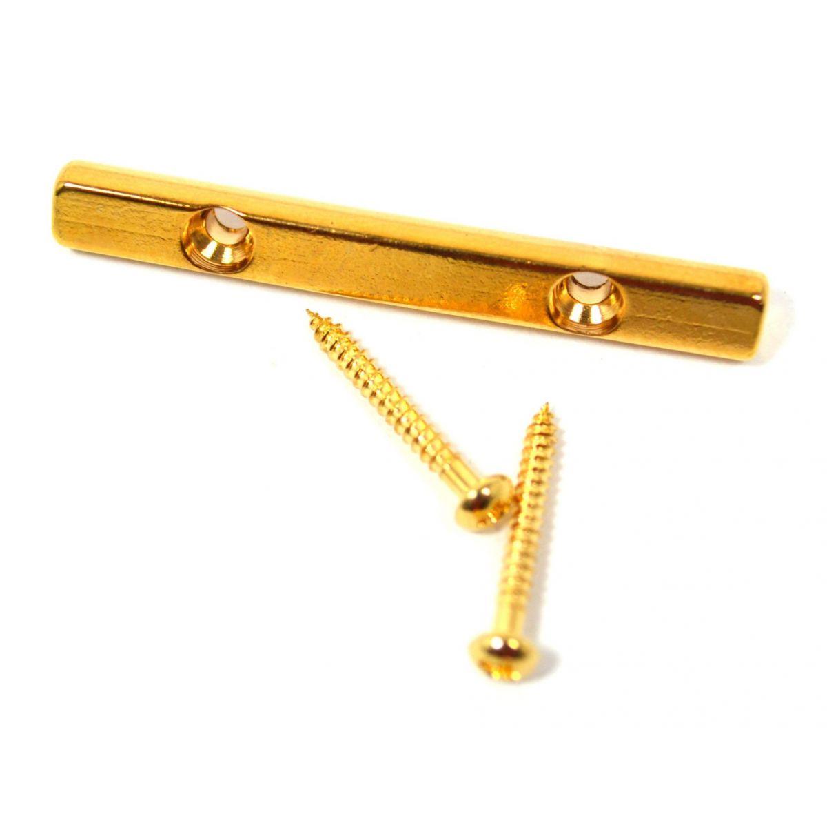Rebaixador de cordas dourado para guitarra tipo barra 43mm (HS412)  - Luthieria Brasil