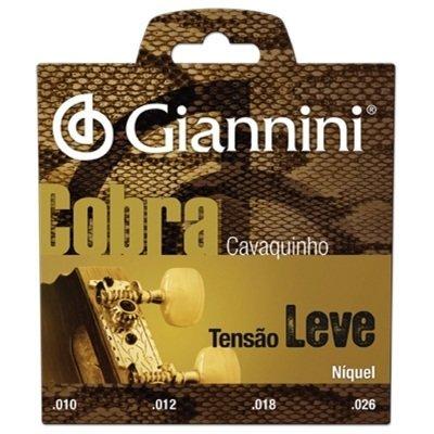 Encordoamento Giannini  GESCL Série Cobra (Níquel) Tensão Leve para Cavaquinho  - Luthieria Brasil